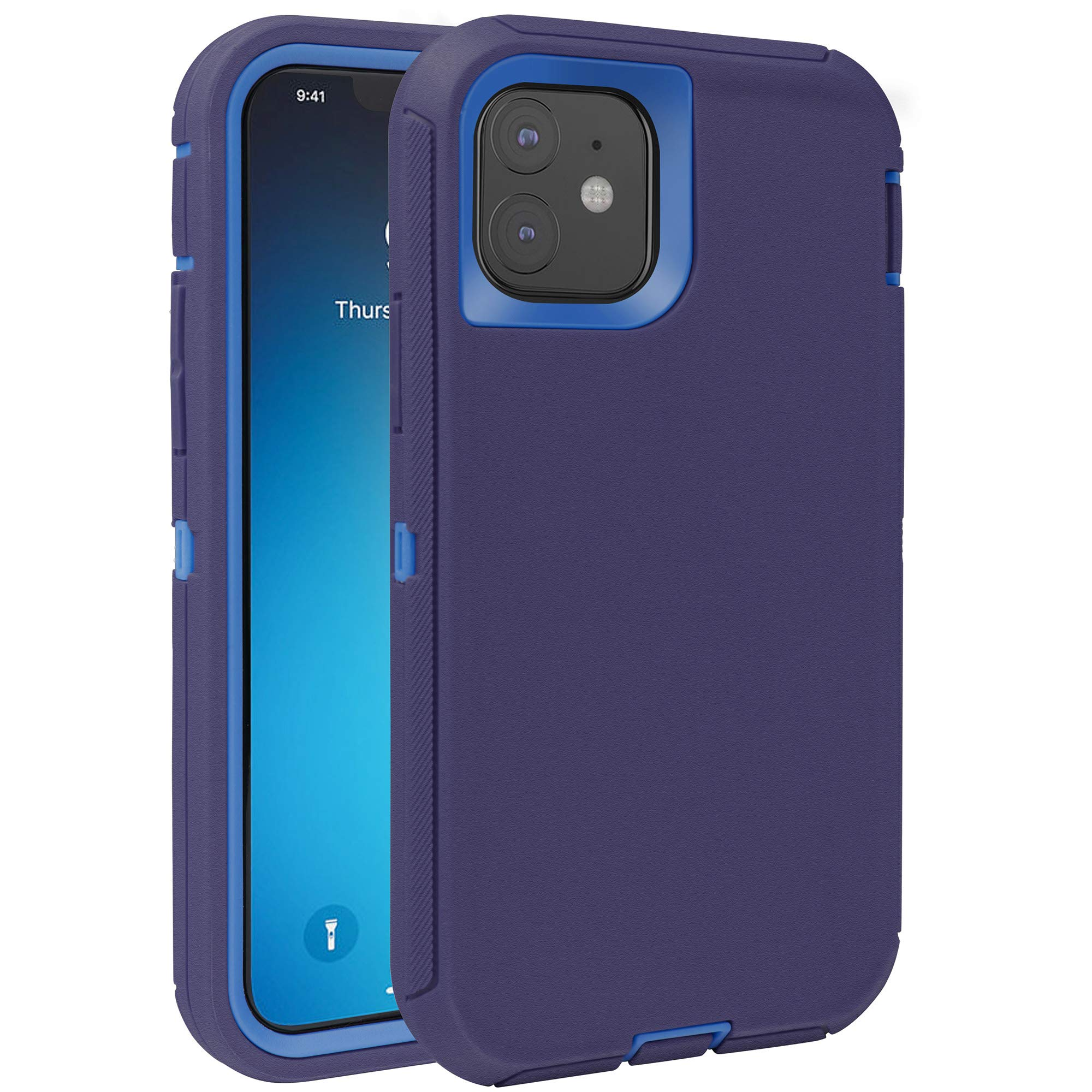 FOGEEK Case for iPhone 11, Heavy Duty Rugged Case, Full Body Protective Cover [Shockproof] Compatible for iPhone 11 2019 [6.1 inch] (Dark Blue)