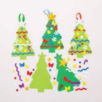 Baker Ross Christmas Tree Mix & Match Decoration Kits (Pack of 8) Festive Arts and Crafts