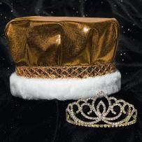 Metallic Crown and Gold Sasha Tiara Royalty Set