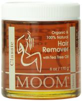 Moom Organic Sugaring Wax (6 oz.) All-Natural Refill for Wax Kit for Hair Removal with Tea Tree Oil & Chamomile – Perfect for Legs, Face, Nose & Eyebrow