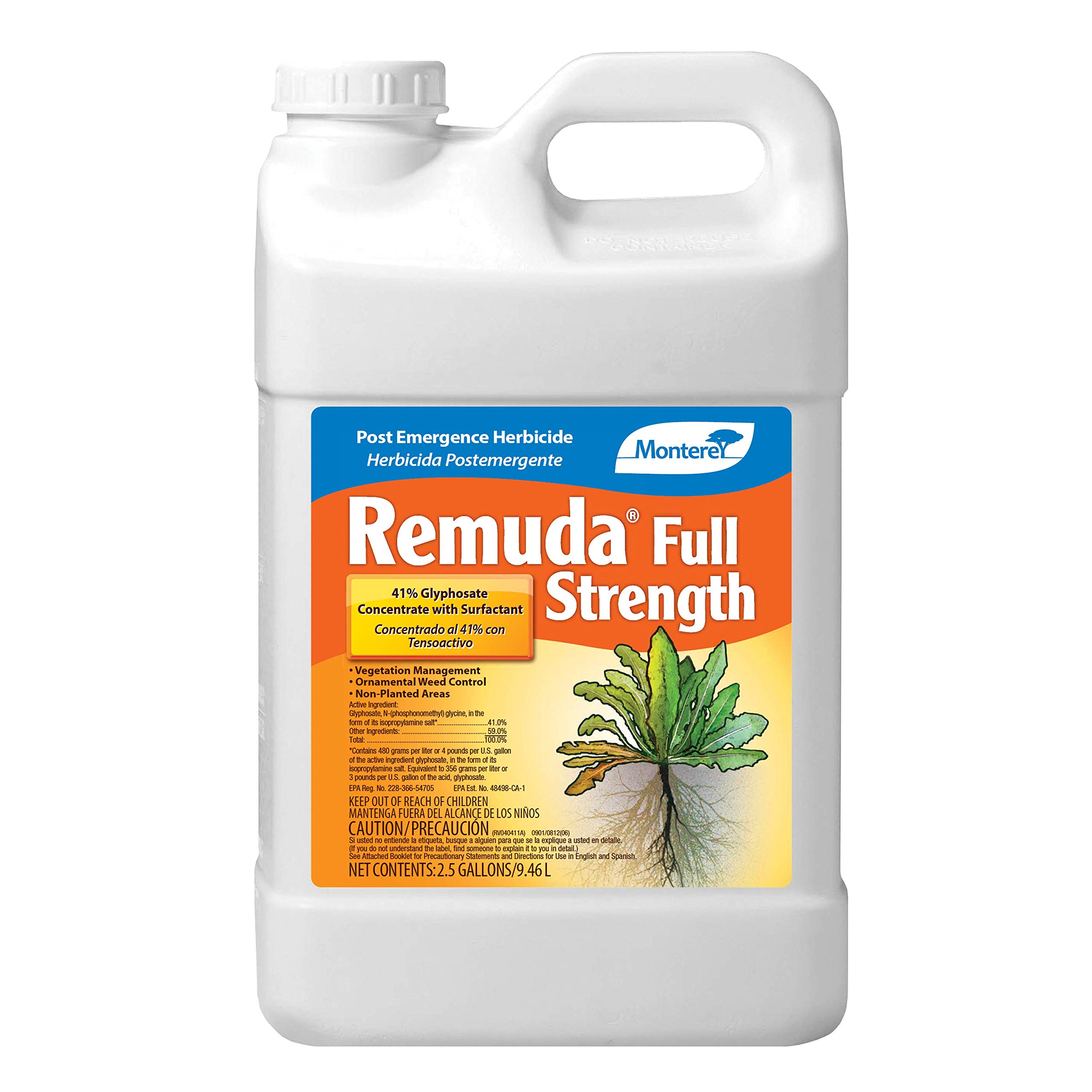 Monterey LG5195 Remuda Full Strength, Non-Selective Post Emergence Herbicide, 2.5 Gal