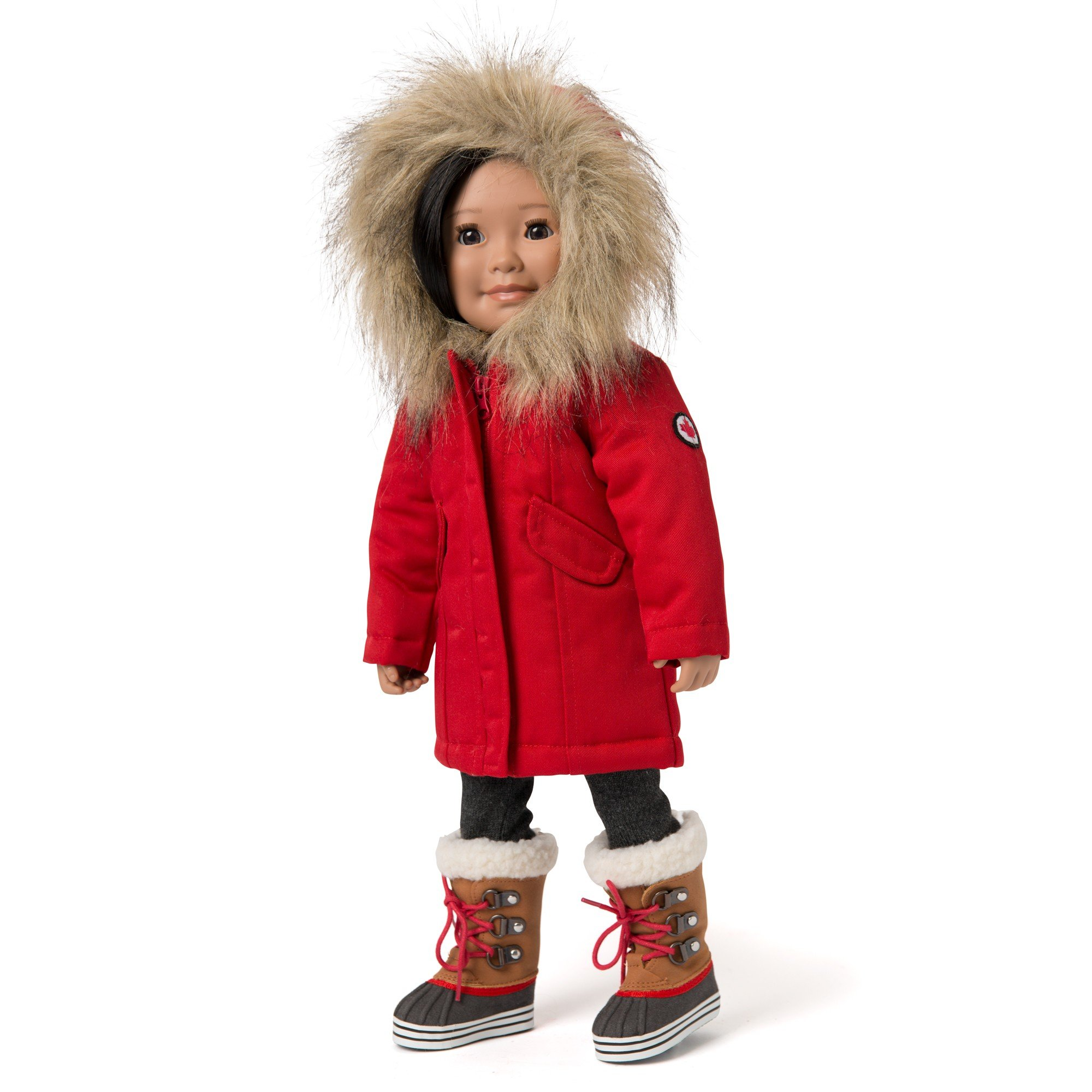 "Maplelea Snow Day Parka with Fur Lined Hood for 18"" Dolls"