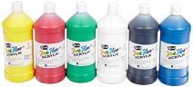 Sax True Flow Heavy Body Acrylic Paint, Quarts, Assorted Colors, Set of 6 - 409812