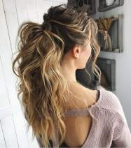 """VeSunny Wrap Around Ponytail Human Hair Extensions Ombre Color #2 Darkest Brown Fading to #6 Mix #24 Light Blonde Real Hair Ponytail Extensions Clip in Thick Hair 80G/Set 18"""""""