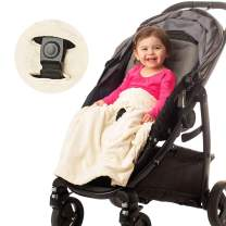 Non-Slip Stroller Blanket by Intimom- Soft Baby Blanket for Infant Car Seat, Universal Fit for All Stroller, Pram, Car Seat, & Infant Car Seat. Stays in Place, Off The Floor, Out of Stroller Wheels.