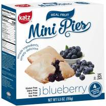 Katz Gluten Free Blueberry Mini Pies | Dairy Free, Nut Free, Soy Free, Gluten Free | Kosher (6 Packs of 4 Mini Pies, 5.5 Ounce Each)