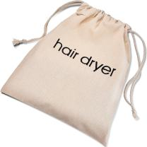 Hair Dryer Bags Drawstring Bag Container Hairdryer Bag, 11.8 by 13.8 Inch (Cotton, Beige)