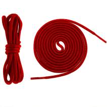 Teeoff Waxed Shoelaces Round Shoe Laces Bootlaces, 6 Different Length