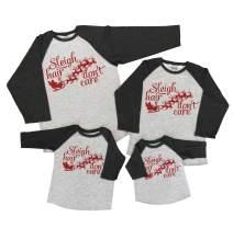 7 ate 9 Apparel Matching Family Christmas Shirts - Sleigh Hair Grey Shirt