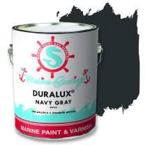 Duralux M723-1 Marine Paint, Navy Gray Boat Paint, 1 Gallon