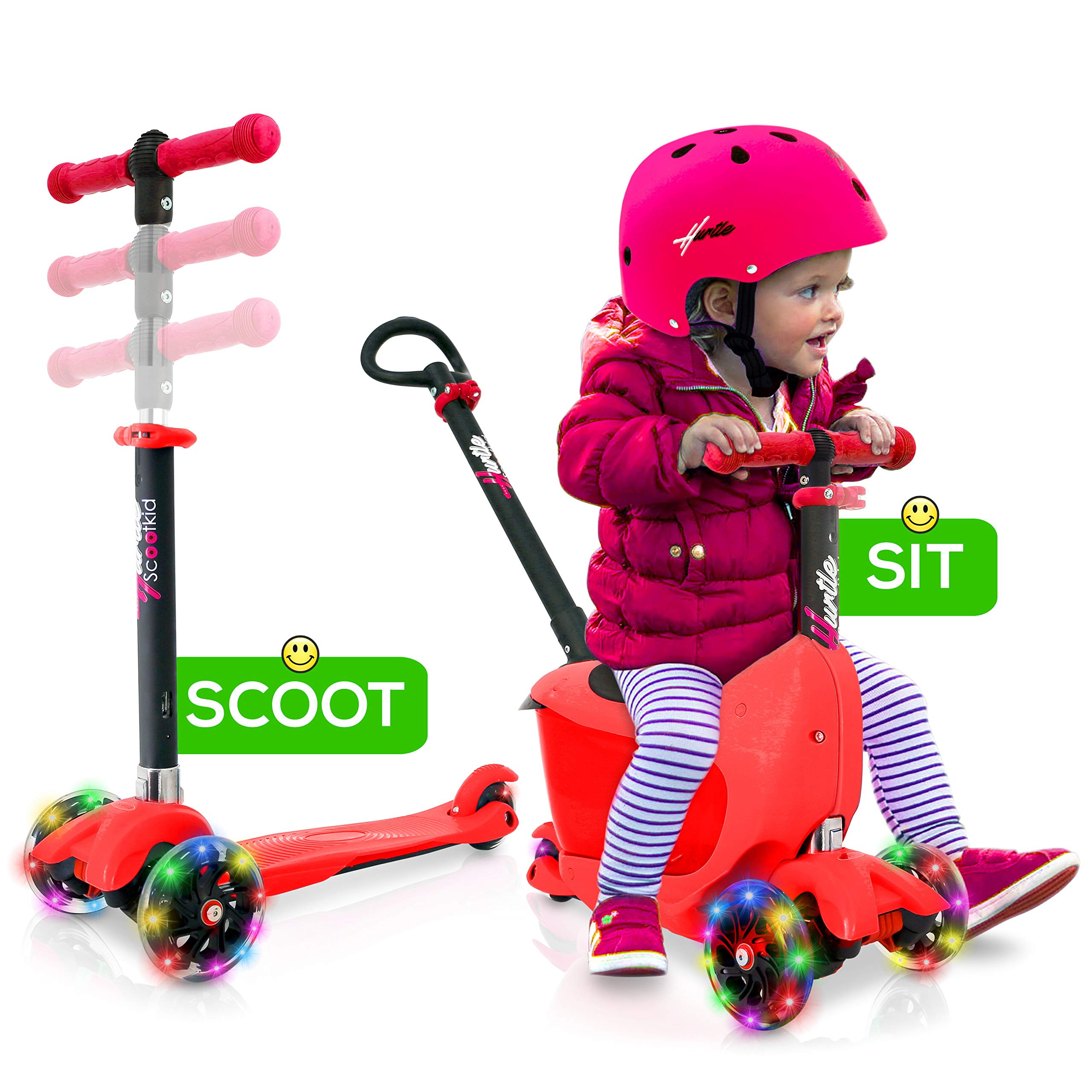 Hurtle 3 Wheeled Scooter for Kids - Child/Toddlers Toy Kick Scooter