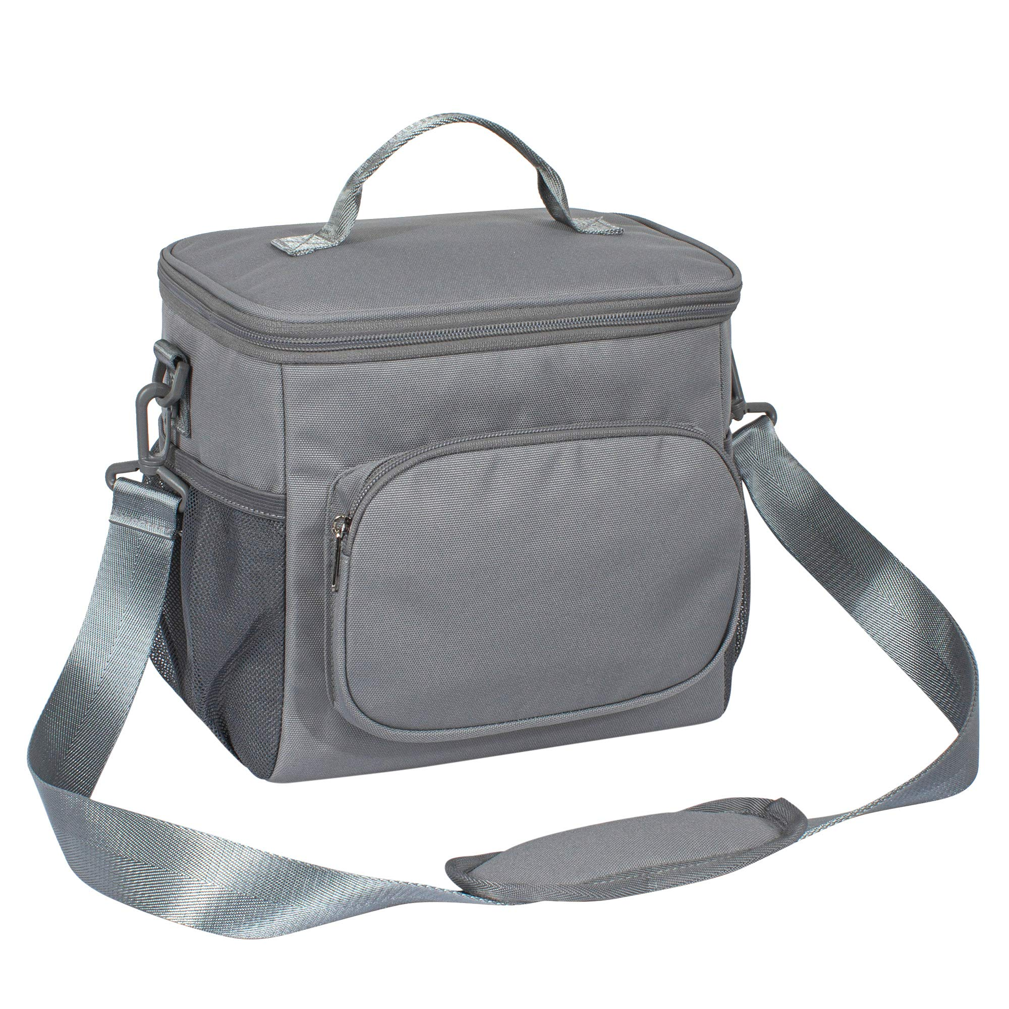 TOPERIN Lunch Box Insulated Lunch Bag for Men, Women Lunch Tote Bag Gray