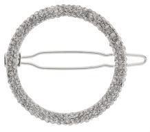 L. Erickson Elsa Crystal Tige Boule Barrette - Crystal/Silver