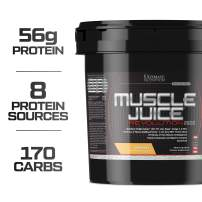 Ultimate Nutrition Muscle Juice Revolution Weight and Lean Muscle Mass Gainer Protein Powder with Glutamine, Micellar Casein and Time Release Complex Carbohydrates, Banana, 11.1 Pounds