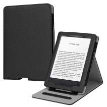 Fintie Flip Case for All-New Kindle (10th Generation, 2019) / Kindle (8th Generation, 2016) - Vertical Multi-Viewing Hands-Free Stand Cover with Auto Sleep/Wake, Black