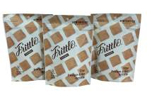 Frittle: Toasted Coconut Bite Size Peanut Brittle/Peanut Butter Fudge Candy (3-Pack, 3.5 oz each). Taste The Hand-Crafted Unique Blend of Peanut Butter Fudge and Peanut Brittle. Gluten Free & Vegan.