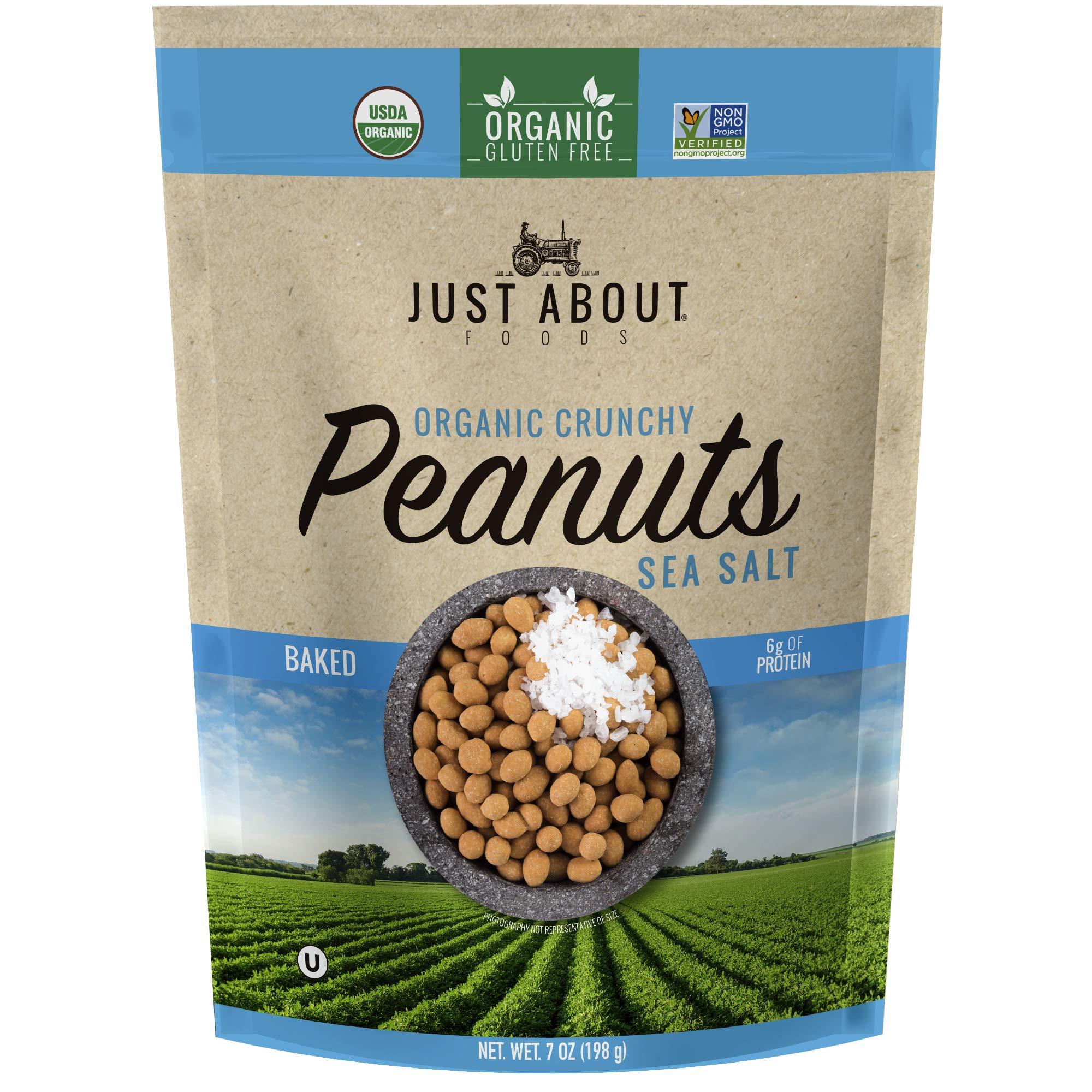 Organic Crunchy Peanuts Sea Salt 7 oz. (198g) Just About Foods