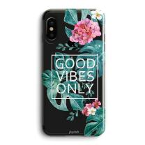 iPhone XR Case,Cute Flowers Vintage Blooms Roses Aloha Love Summer Tropical Colorful Hawaii Floral Good Vibes Only Palm Tree Beach Trendy Rose Girls Women Clear Case Compatible for iPhone XR