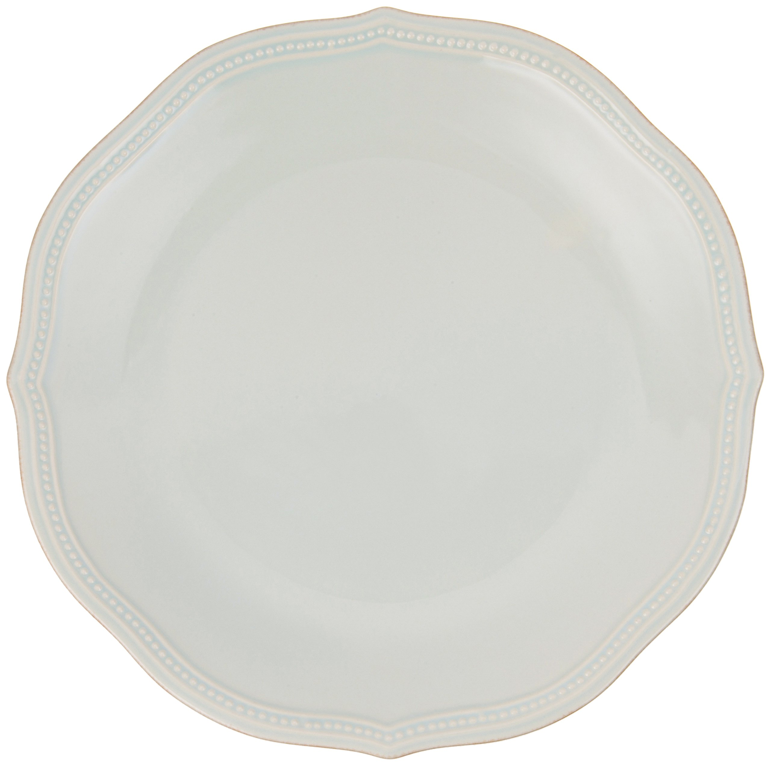 Lenox 855135 Ice Blue French Perle Bead Dinner Plate, 1.95 LB