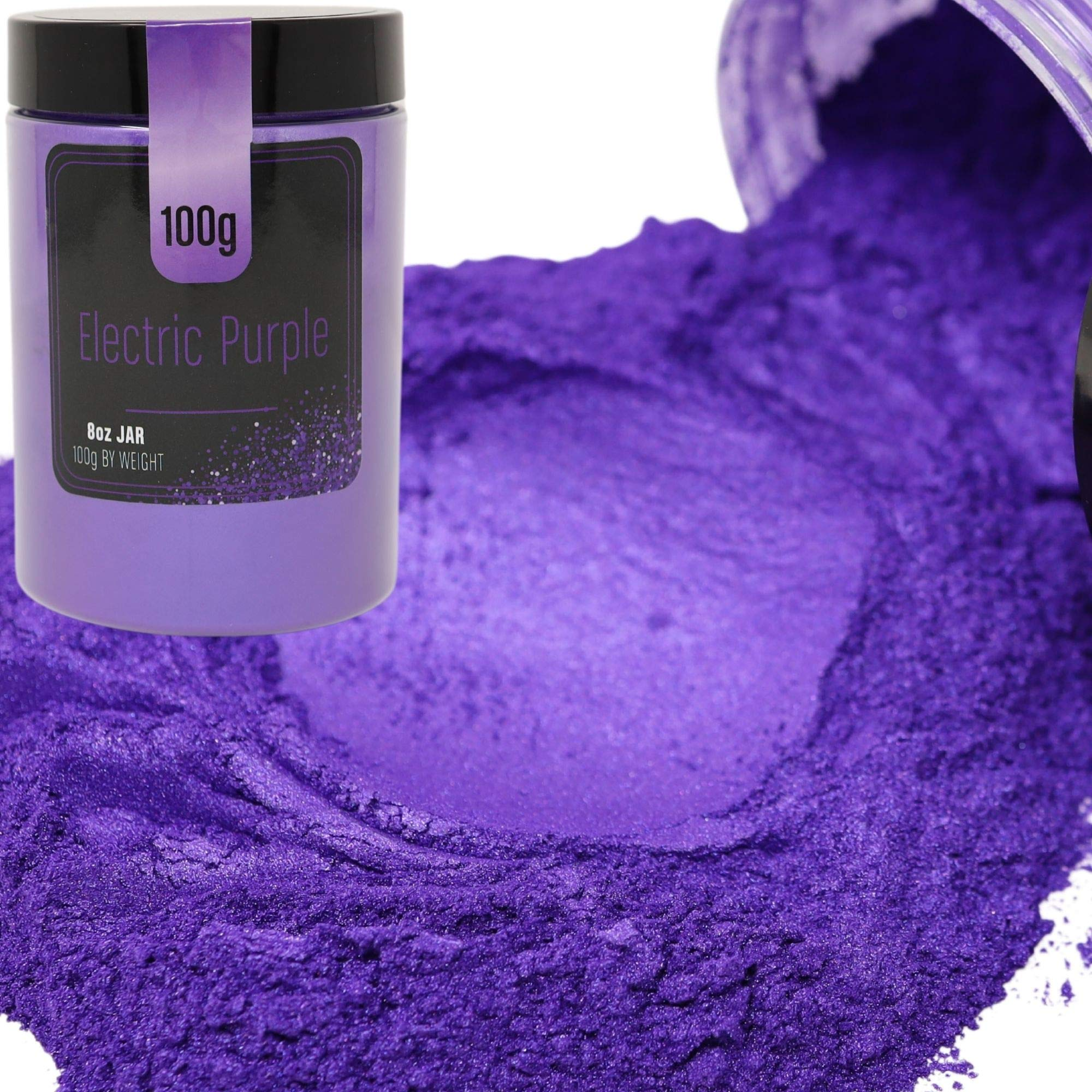 FIREDOTS Electric Purple Mica Powder, Massive 100 Gram Pot of True Cosmetic Grade Mica with Pearlescent Effect, 100% Pure for Artists Working in Resin Art, Epoxy, Concrete, Soaps, and Cosmetics