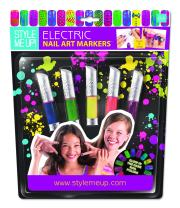 Style Me Up - Girls Nail Varnish Pens - Kids Nail Polish Set - Pack of 5 Nail Paint 2 in 1 Markers - SMU-1640