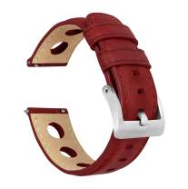 Barton Rally Horween Leather Straps - Integrated Quick Release Spring Bars- 316L Stainless Steel- Choose Color - 18mm, 19mm, 20mm, 21mm, 22mm, 23mm & 24mm Watch Bands