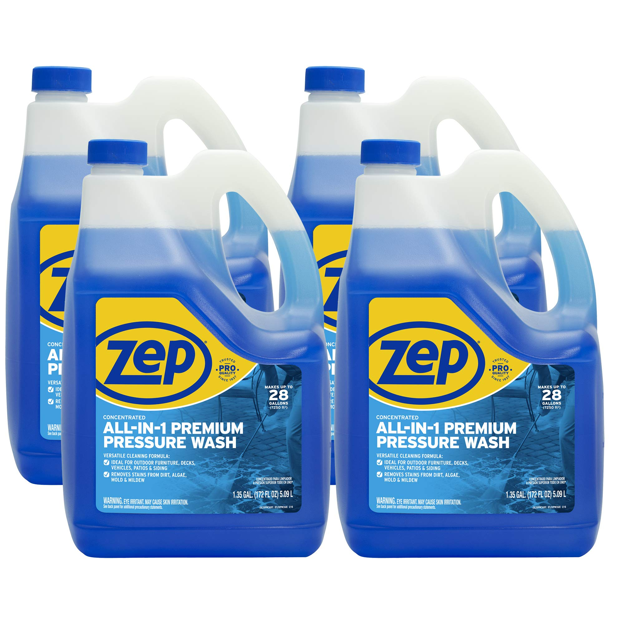 Zep All-in-1 Pressure Wash Cleaner ZUPPWC160 (CASE of 4) Concentrated Pro Formula