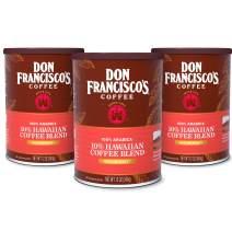 Don Francisco's Hawaiian Blend Ground Coffee, 100% Arabica (3 x 12 Ounce Cans)