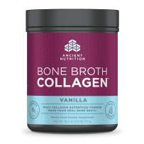 Ancient Nutrition Bone Broth Collagen Powder, 30 Servings of All-Natural Protein Powder Loaded with Bone Broth Co-Factors, 10g of Type I, II and III Collagen Per Serving (Vanilla), 18.2 Ounce …