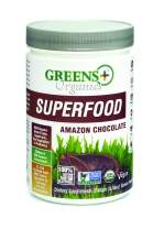 Greens+ Organic Superfood Amazon Chocolate | Non GMO | Gluten Free | USDA Organic | Vegan Greens Powder | 8.46 oz