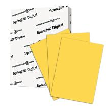 Springhill Goldenrod Colored Paper, 24lb Copy Paper, 89gsm, 11 x 17 printer paper, 1 Ream / 500 Sheets - Pastel Paper with Smooth Finish (024047R)