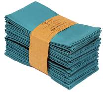 "Ruvanti Kitchen Cloth Napkins 12 Pack (18""X18""),Dinner Napkins Soft & Comfortable Reusable Turquoise Napkins -Durable Linen Napkins - Perfect Table Napkins/Teal Napkins for Family Dinners, Weddings."