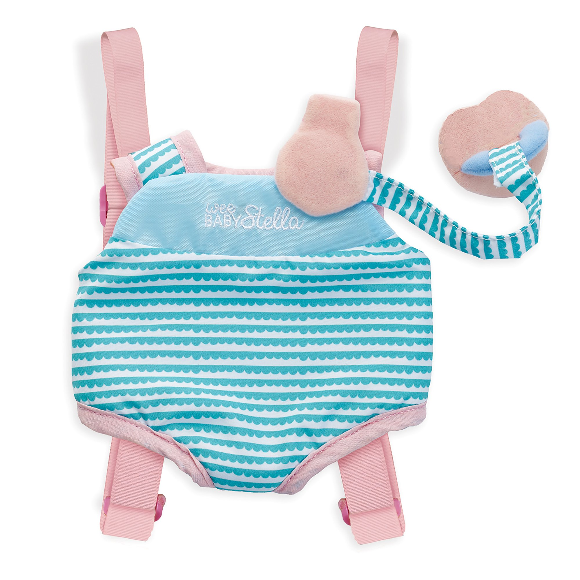 """Manhattan Toy Wee Baby Stella Travel Time Carrier Baby Doll Accessories Set for 12"""" Dolls"""