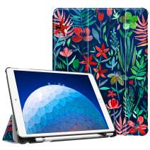 "Fintie Case for iPad Air (3rd Gen) 10.5"" 2019 / iPad Pro 10.5"" 2017 - [SlimShell] Ultra Lightweight Standing Protective Cover with Built-in Pencil Holder, Auto Wake/Sleep (Jungle Night)"