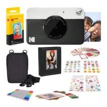 KODAK PRINTOMATIC Digital Instant Print Camera (Black) with 2ʺx3ʺ Premium Zink Photo Paper (20 Sheets), Soft Camera case, Zink Paper Unique Colorful Stickers & Photo Album Accessories