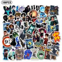 100PCS HARR_y Potter Stickers and Decals Laptop Waterproof Vinyl Stickers Water Bottle House Skateboard Stickers for Kids Teens Boys Adults