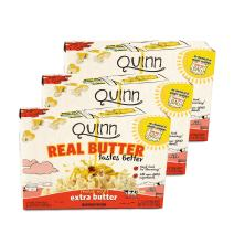 Quinn Snacks Real Butter Tastes Better - Microwave Popcorn - Extra Butter, 3.7 Ounce (3 Count)