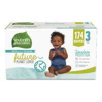 Seventh Generation Baby Diapers, Size 3, 174ct, 174 Count