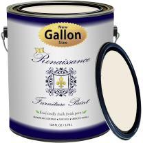 Renaissance Chalk Finish Paint - 1 Gallon - Chalk Furniture & Cabinet Paint - Non Toxic, Eco-Friendly, Superior Coverage - Ivory Tower (128oz)