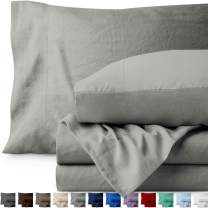 Bare Home Queen Sheet Set - Premium 1800 Ultra-Soft Microfiber Bed Sheets - Double Brushed - Hypoallergenic - Stain Resistant (Queen, Sandwashed Frost Grey)
