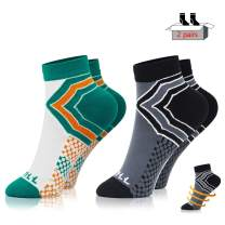 NEWZILL Low Cut Compression Socks (15-20 mmHg / One Pair) for Men & Women - U.S Olympic Fencer Recommend