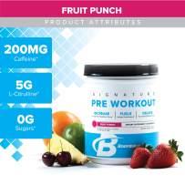 Bodybuilding Signature Pre Workout Powder | CARNOSYN, L-LEUCINE, L-CITRULLINE | Increases Focus, Fuels Performance | Fruit Punch, 30 Servings