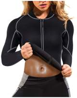Gotoly Women's Neoprene Sauna Vest with Sleeves Gym Hot Sweat Suit Weight Loss