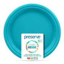 Preserve 6616 Go Lightweight BPA Free Large Dinner Plates Made from Recycled Plasti Kitchen Supplies, Aqua