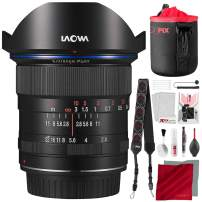 Laowa Venus Optics 12mm f/2.8 Zero-D Lens for Canon EF (Black) with Lens Pouch and Deluxe Cleaning Set Accessory Bundle