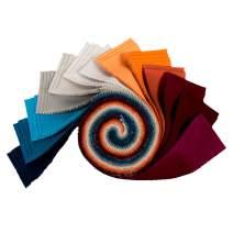 Robert Kaufman Kona Cotton 2.5'' Roll Ups 40 Piece Fabric, Tuscan Skies