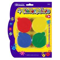 BAZIC Assorted Color 40ml Finger Paint Set, Art Supplies Fun Creative Painting for Kids Activity Class Home DIY Age 3+ (4/Pack) (Box of 24)