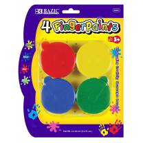 BAZIC Assorted Color 40ml Finger Paint Set, Art Supplies Fun Creative Painting for Kids Activity Class Home DIY Age 3+ (4/Pack)