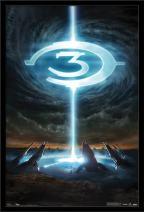 "Trends International Halo 3 - Logo, 22.375"" x 34"", Black Framed Version"