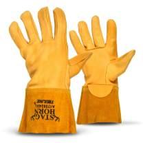 Staghorn Premium Deerskin Leather Work Gloves By Truline | Heat Resistant